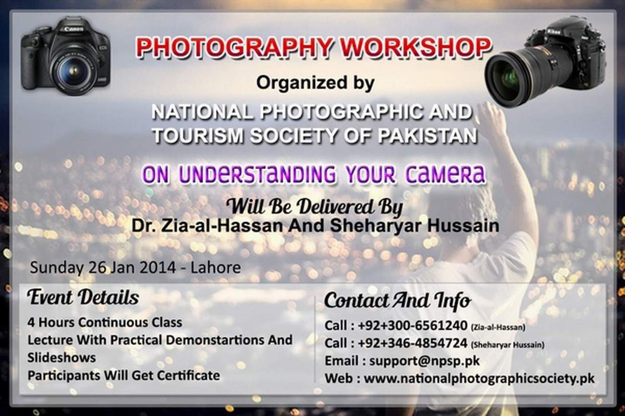Photography Workshop In Lahore Pakistan On Understanding Your Digital Camera