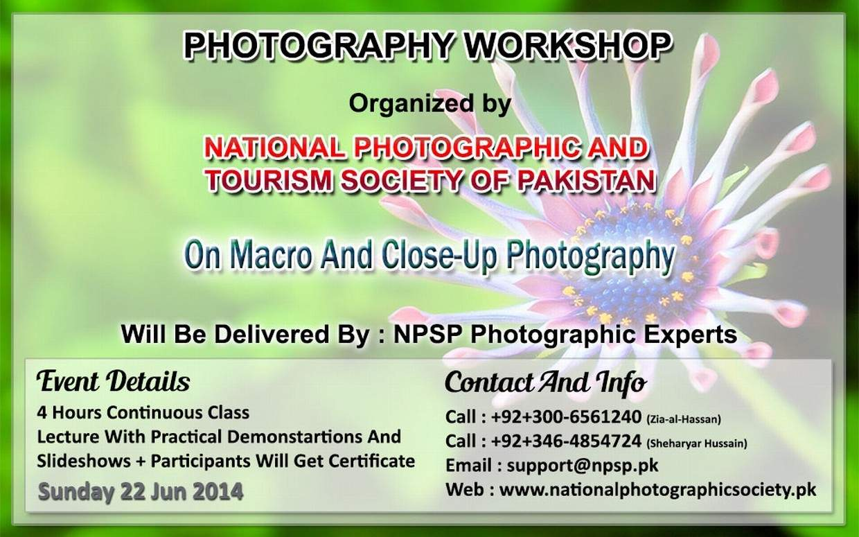 06. Photography Workshop In Lahore Pakistan On Macro And Close-Up Photography